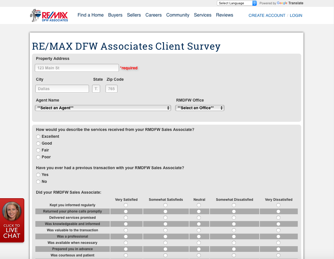 real estate testimonial system client survey system for real estate