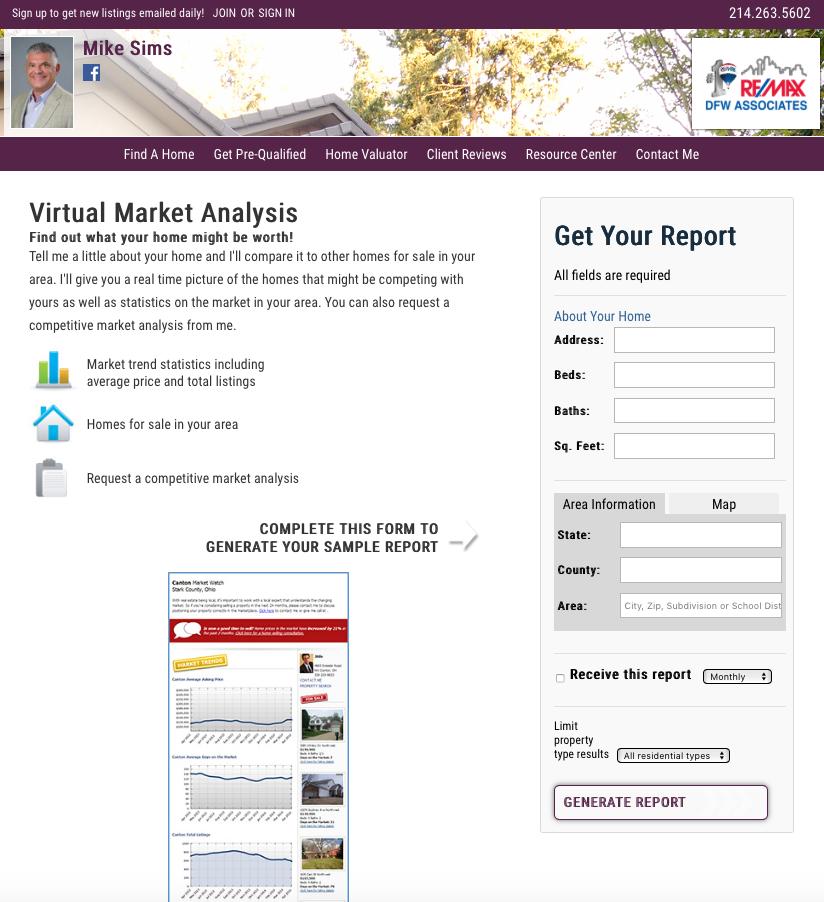 Virtual Real Estate Market Analysis Tool